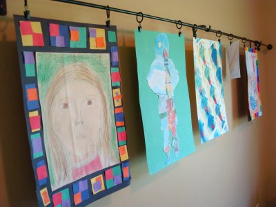 Creative confidence display and honor the power of play for Curtain display ideas