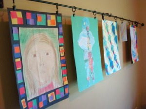 1 - Kids-Art-Displayed-on-a-Curtain-Rod