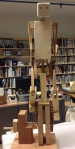 "Wrenford Thaffe's ""Running Man"" awaiting installation."