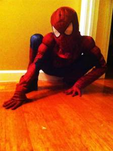 Nate as Spiderman
