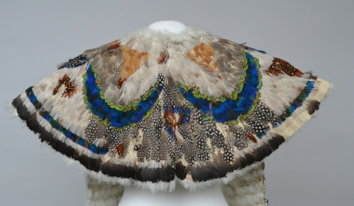 feathered cape back